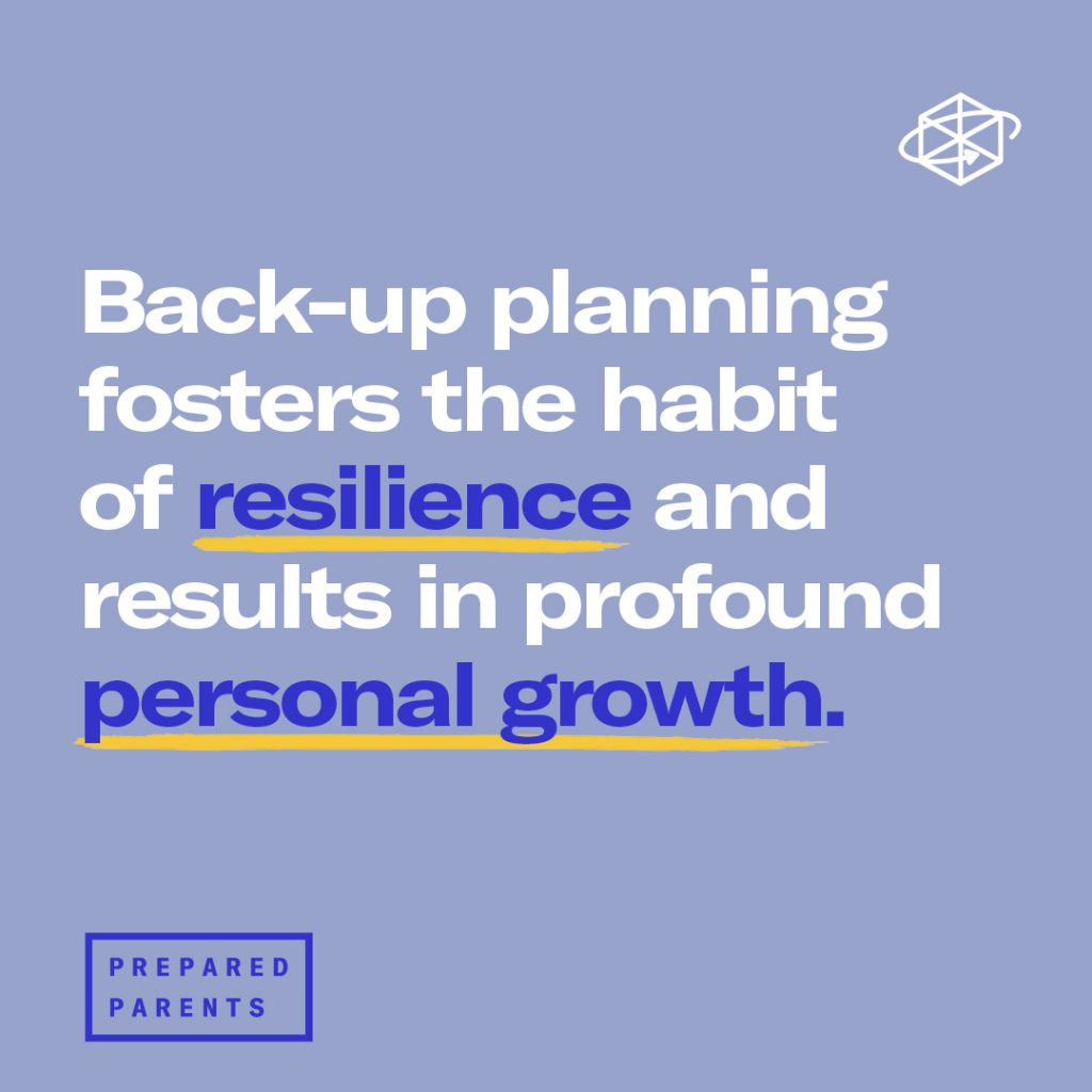 back up planning fosters the habit of resilience and results in growth.