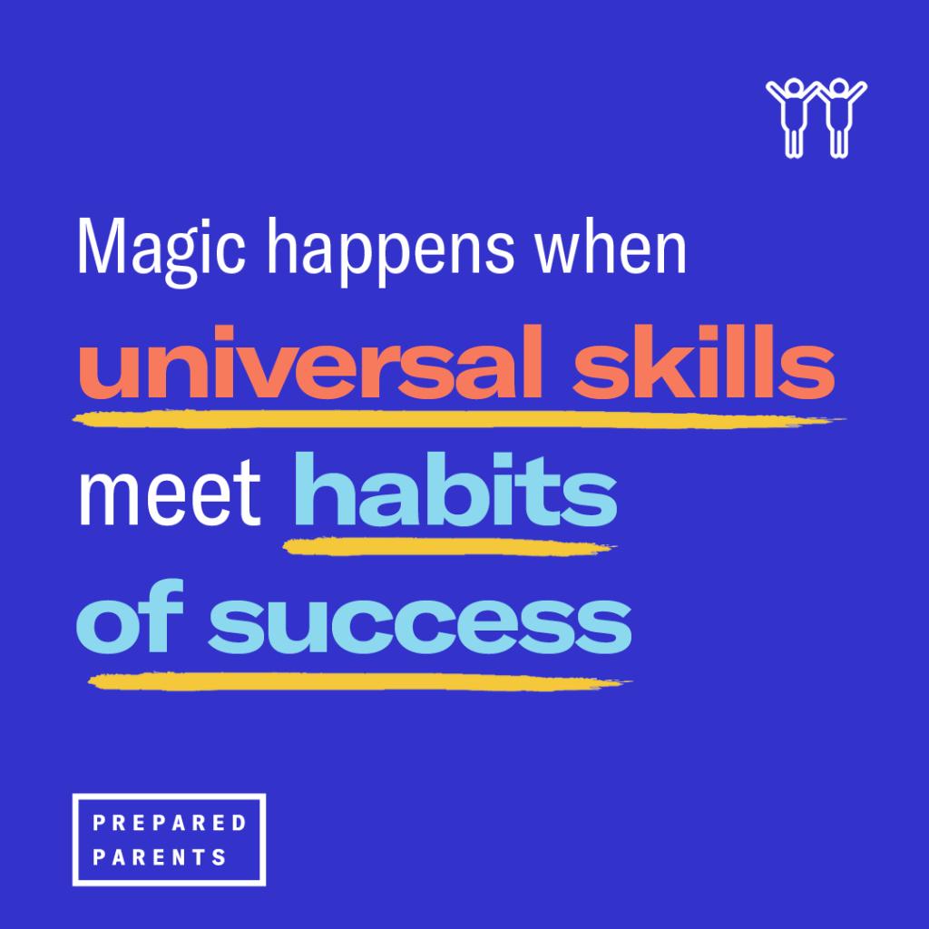 Magic happens when skills meet habits