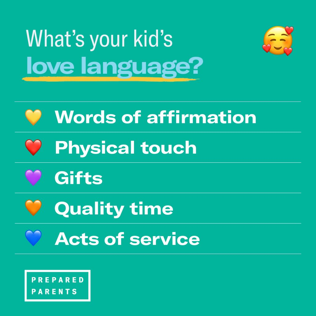 What is your kid's love language?