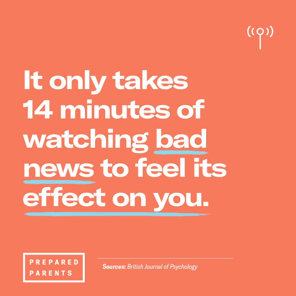 It only takes 14 minutes of watching bad news to feel its effect on you.