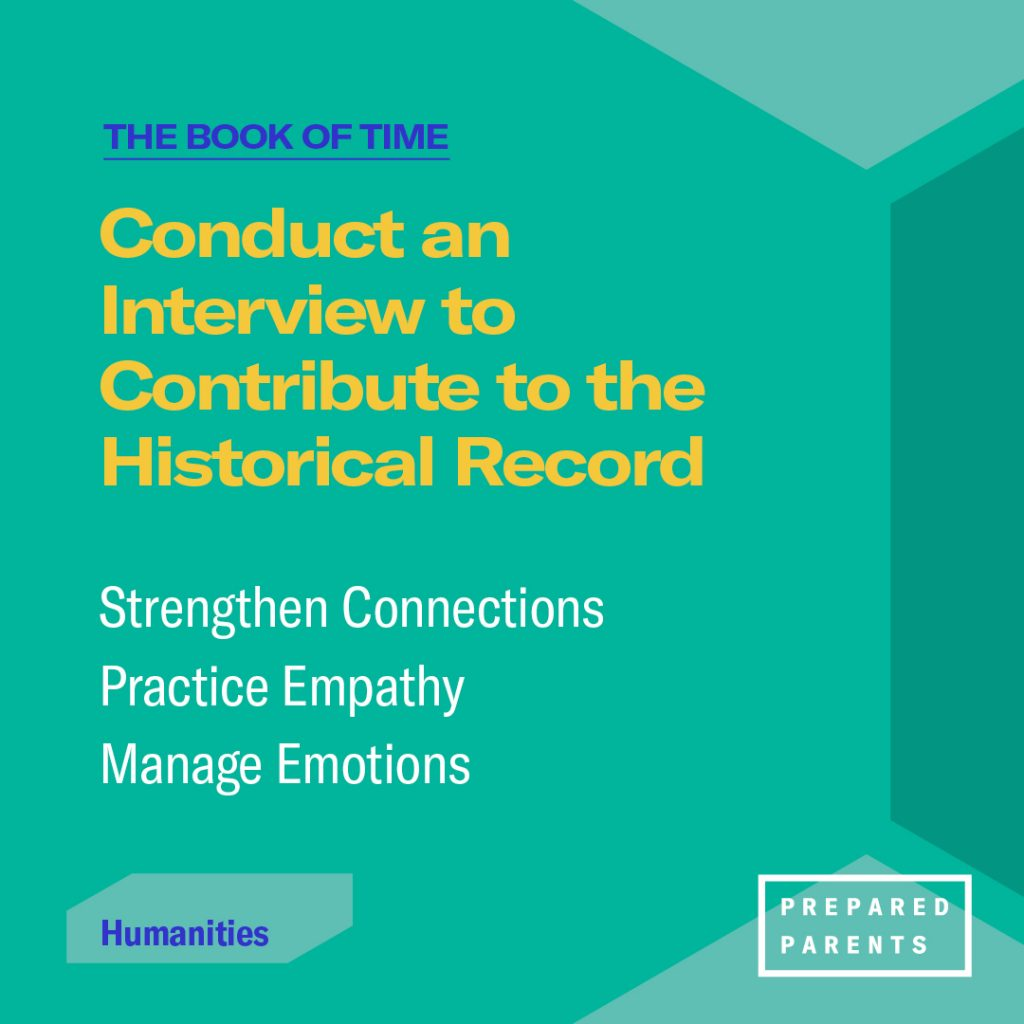 Conduct an interview to contribute to the historical record