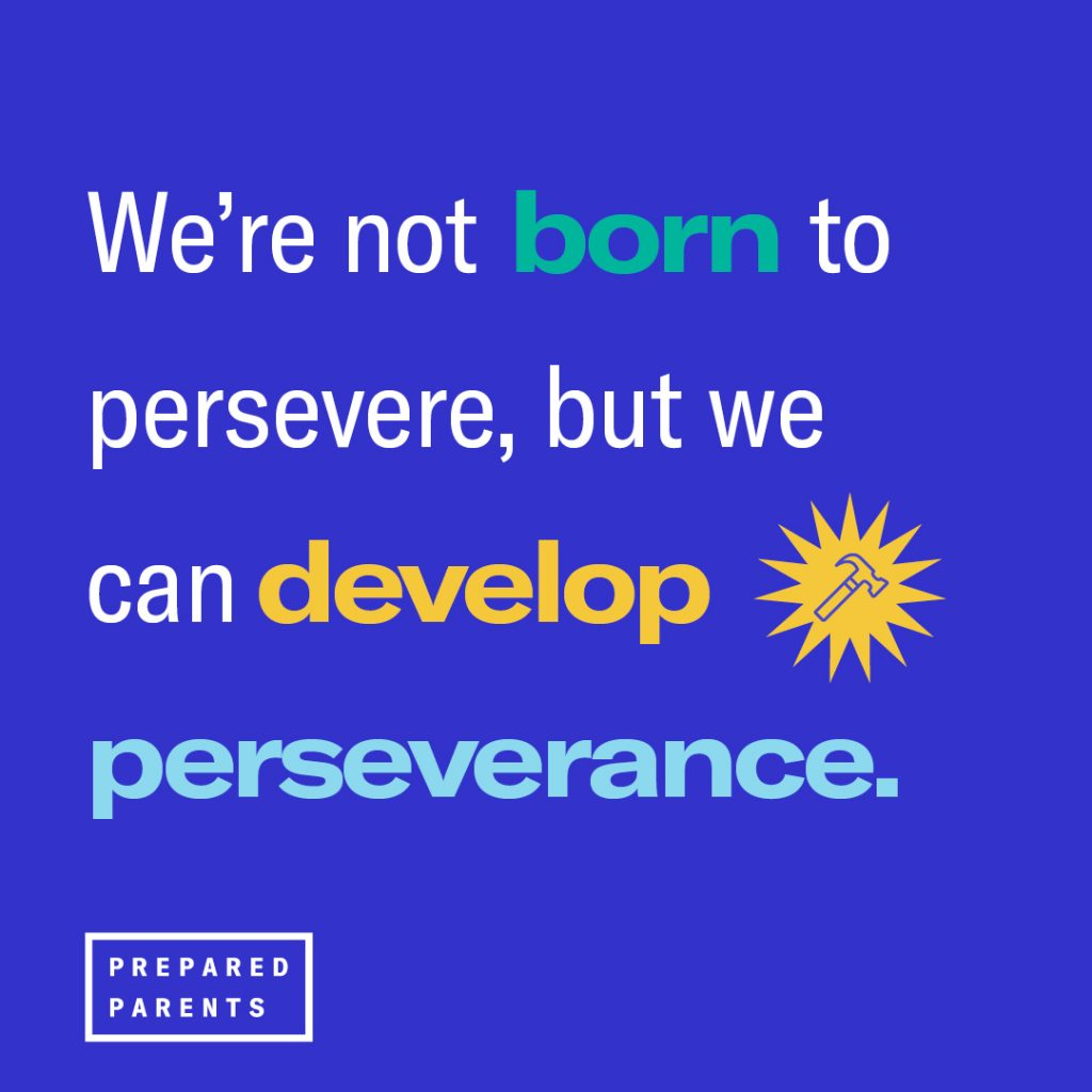 We're not born to persevere, but we can develop perseverance
