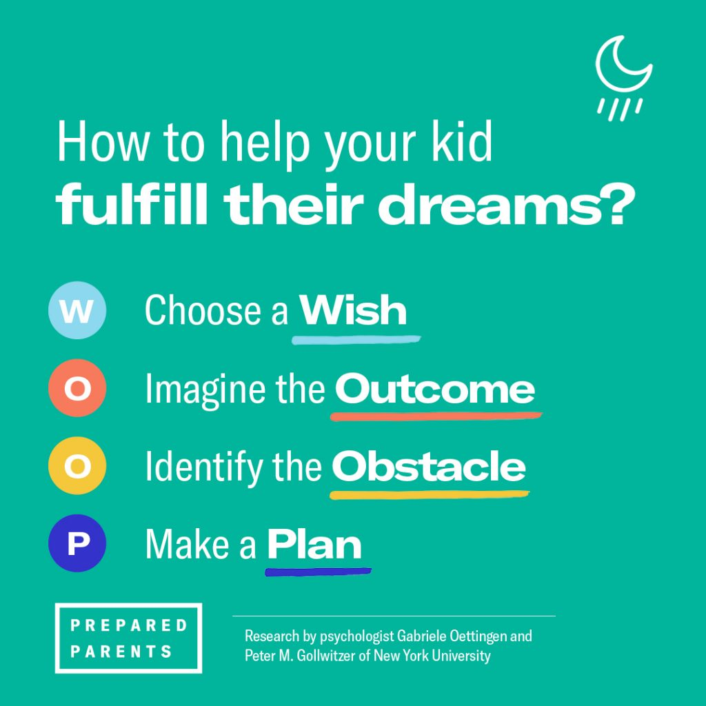 How to help your kid fulfill their dreams: WOOP