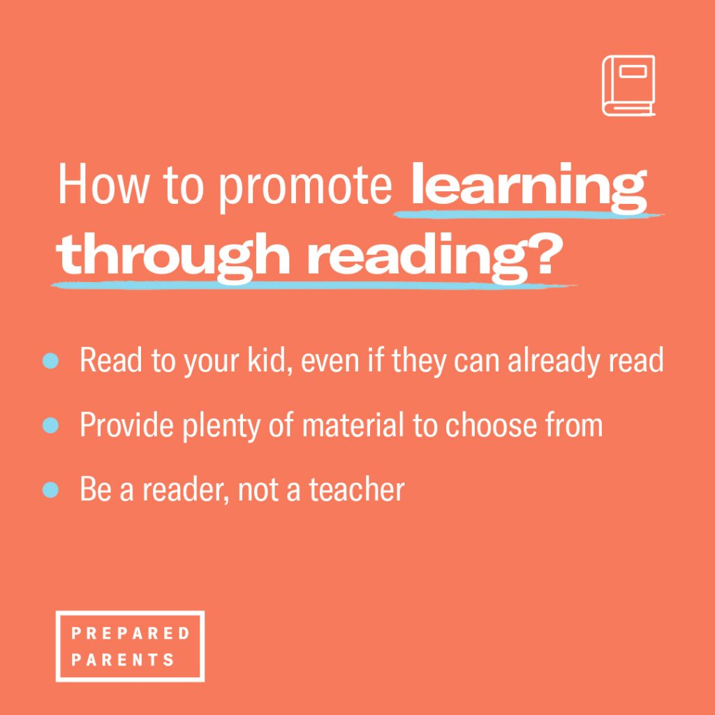How to promote learning through reading in three steps.